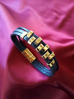 Leather/Gold Plated Trim Band
