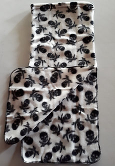 Neck Warmer - Black on White Skull Design