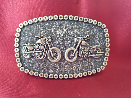 Twin Bikes Belt Buckle