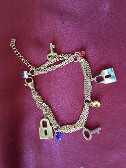 Gold Plated Charm Bracelet