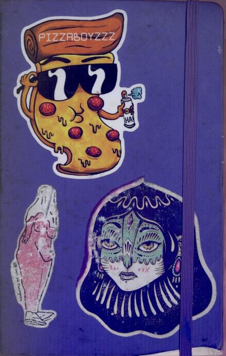 Purple Moleskine Visual Journal Dec'16 - May'17