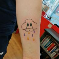 Super Mario Cloud tattoo