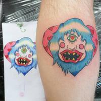 Colourful Yeti Tattoo