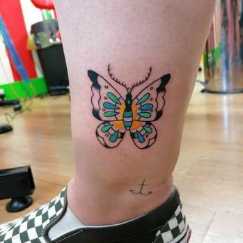 Trad Butterfly Tattoo