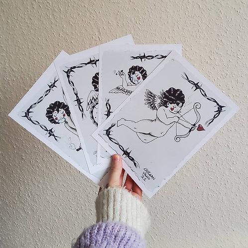 Set of A5 Cherub prints