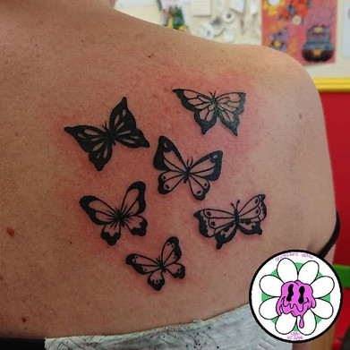 Blackwork Butterflies tatto