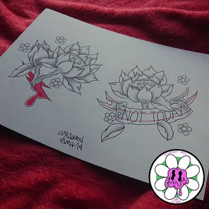 Sum Japanese style lotus flower I done d