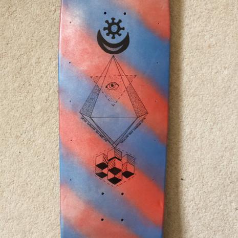 Spray painted and posca custom board