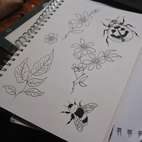 Floral doodles~~ Avaliable 2 tattoo (for