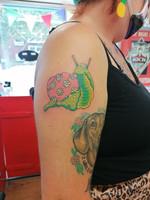 Trippy Snail Tattoo