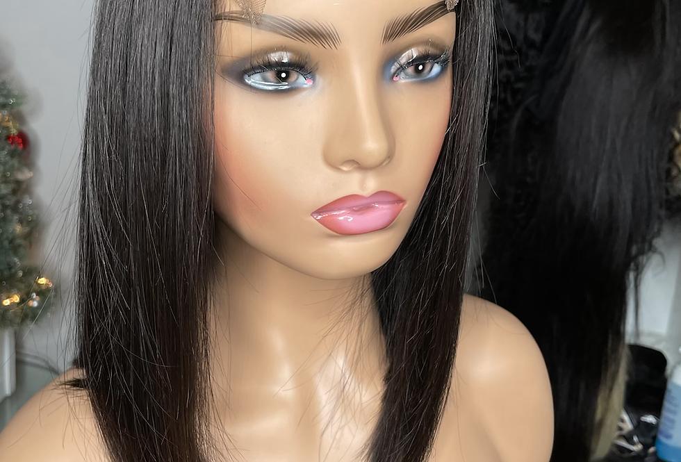 Blunt Cut Lace Closure Wig