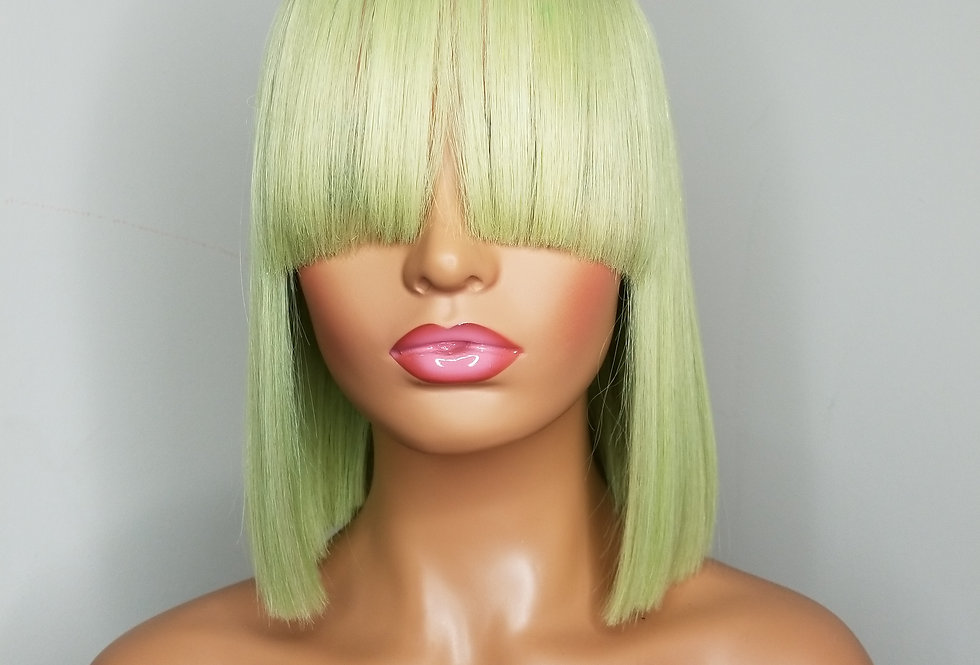 Fantasy Color Full Lace Wig With Bangs