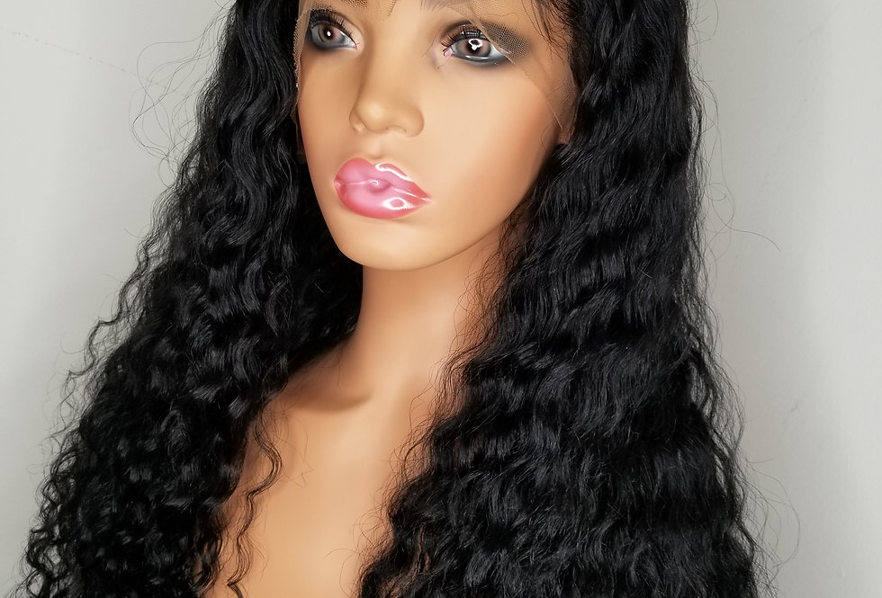 "Full lace 20"" deep wave 180% density"