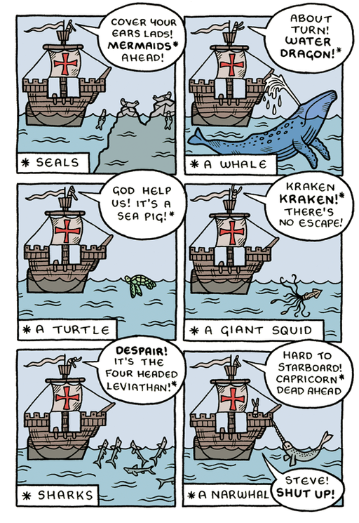 Sea monsters and War animals.