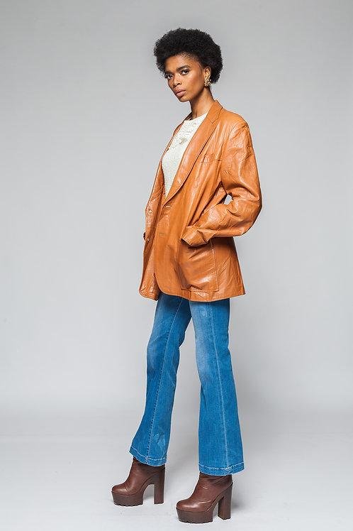 Yves Saint Leather Coat