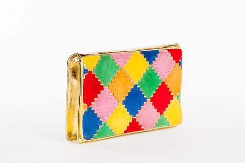 Sold Out Vintage Colorblock Clutch