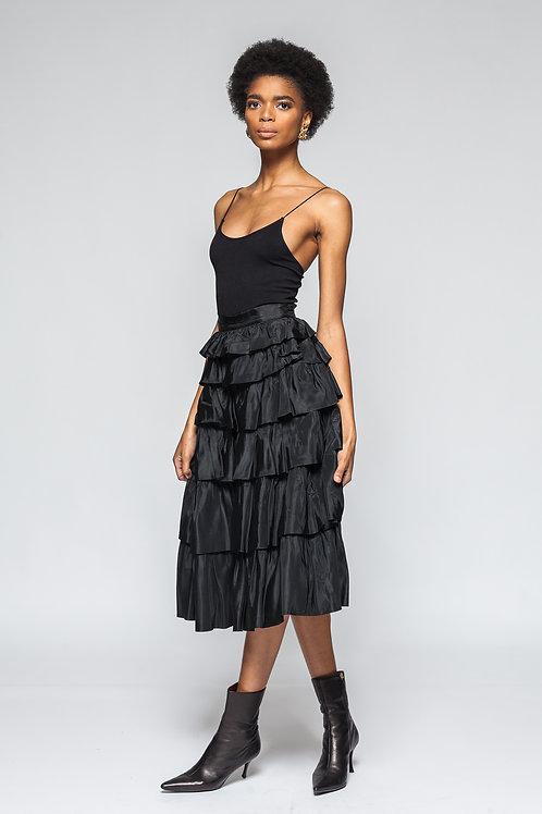 Ruffled Tier Skirt