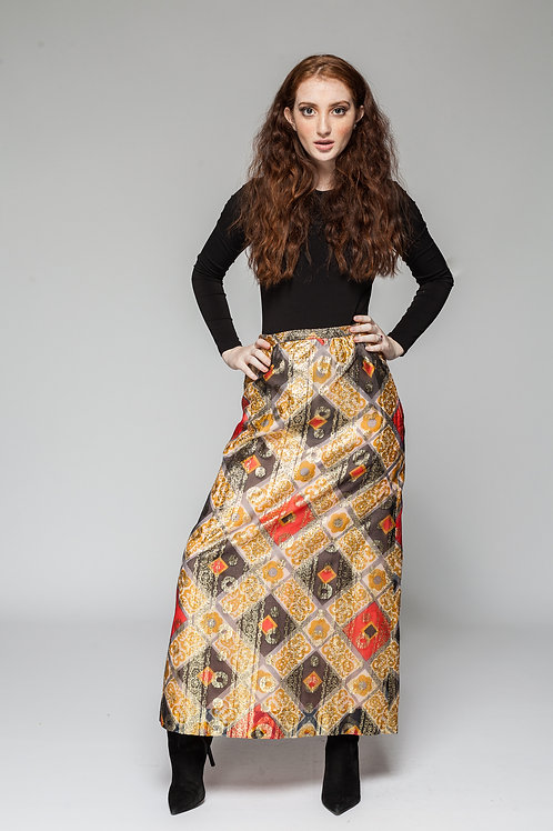 Around the Way Maxi Skirt
