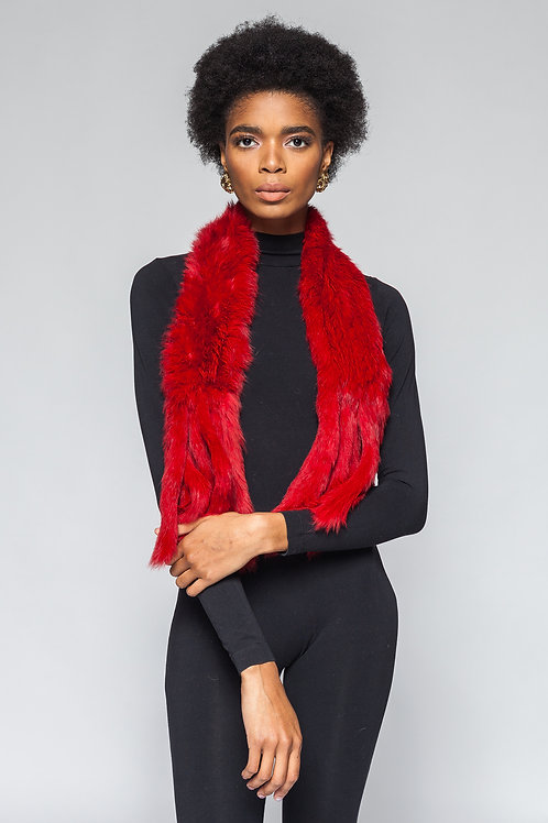 Sold Out Red Fur Collar