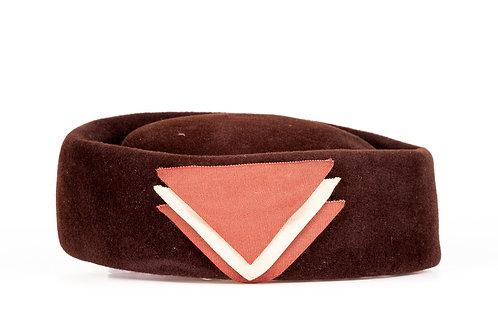 Velvet Brown Topper Hat