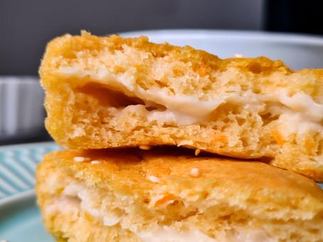 Pão de batata de escola (recheado com requeijão veg)