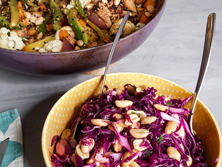 Salada de repolho oriental