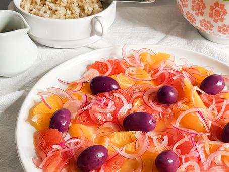Salada de laranja e azeitona