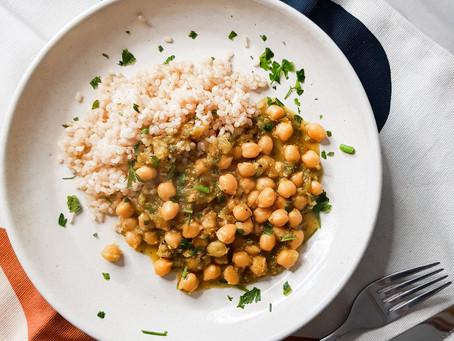 Curry verde de grão de bico