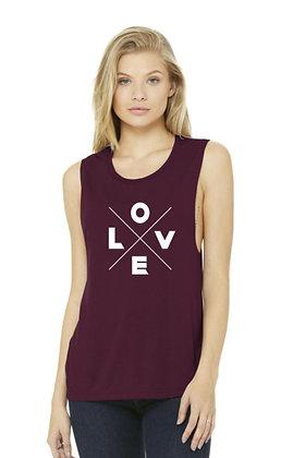 Love X - Maroon Tank