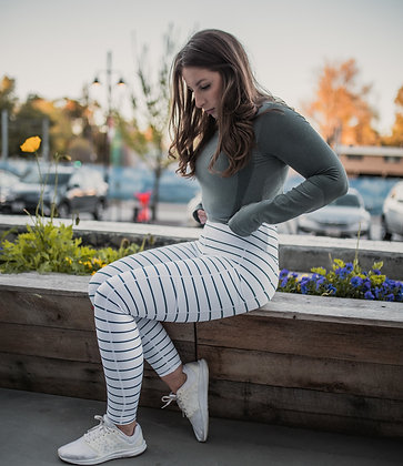 Navy Stripe Legging 7/8