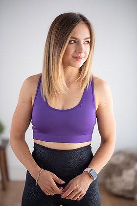 Balance Purple Sports Bra