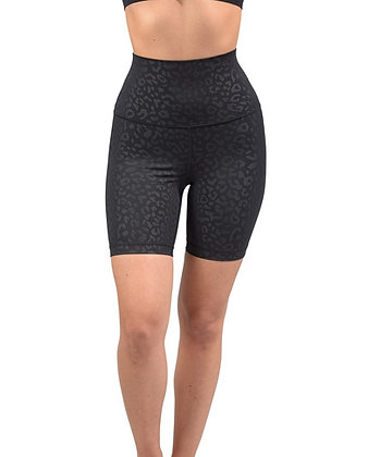 """Everyday Black Embossed Shorts 10"""" High Compression"""