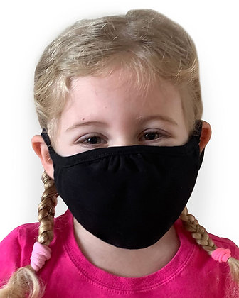 Youth Reusable 5 Pack Face Mask - Black