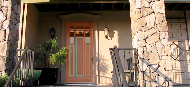 Custom Finished Front Door