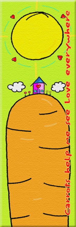 Carrots help me see Love