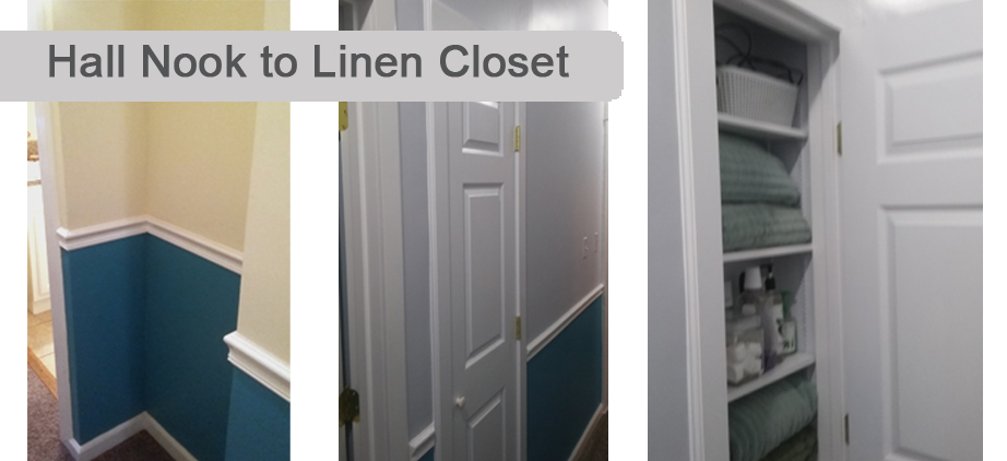 Hall Nook to Linen Closet