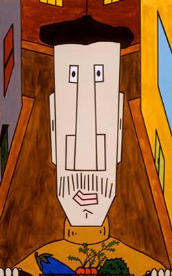 Cartoon Face on Canvas 6