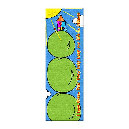 "I Love Green Peas  15"" x 48"""