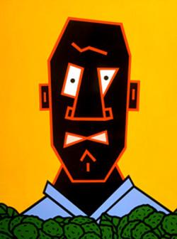 Cartoon Face on Canvas 4