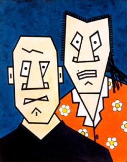 Cartoon Face on Canvas 3