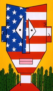 Cartoon Face on Canvas