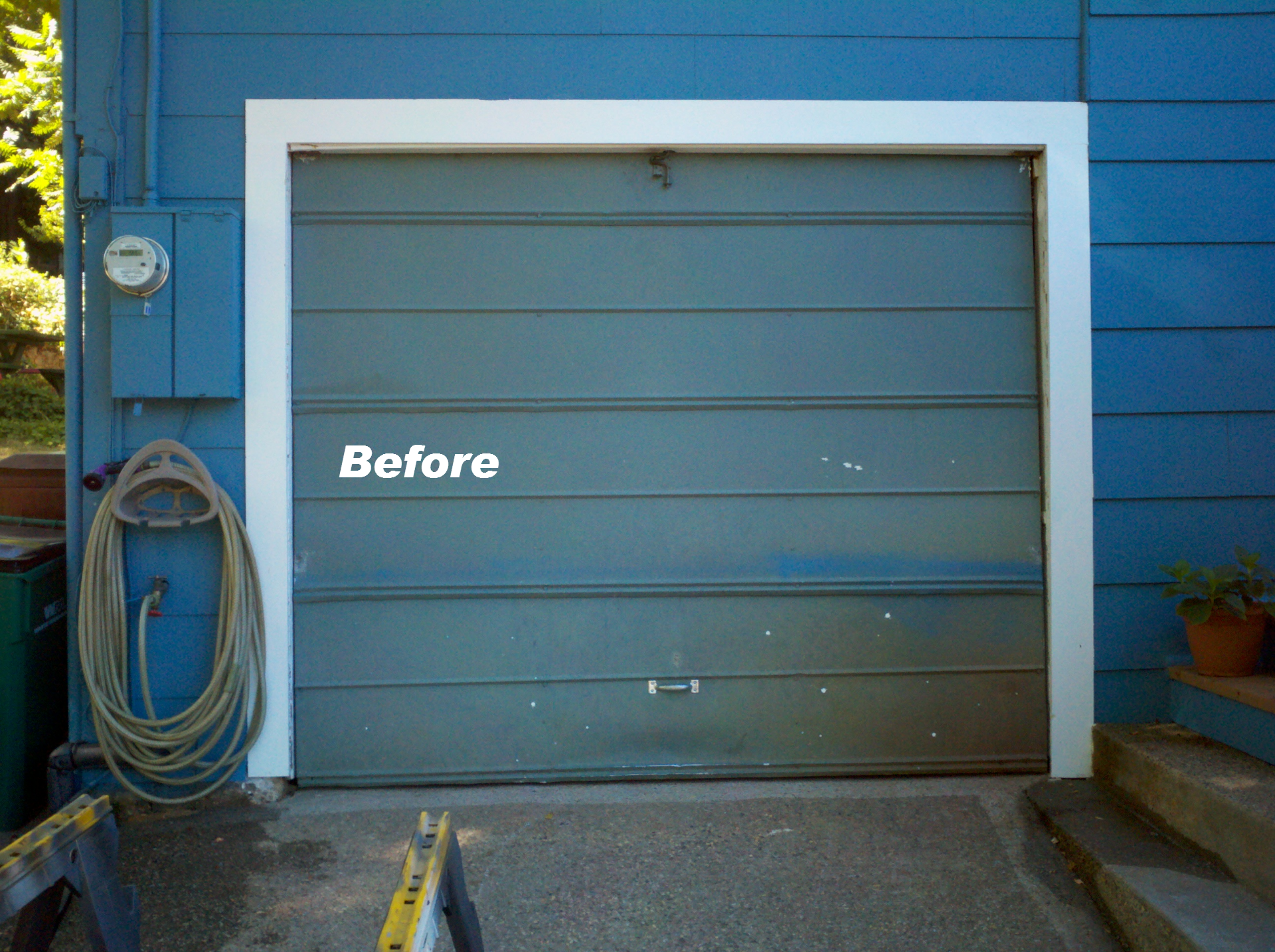 Custom Garage Doors - Before Image