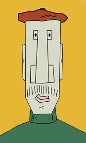 Cartoon Face on Canvas 2