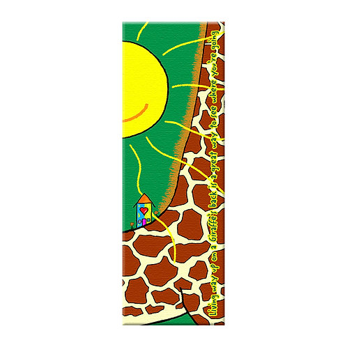 "Living on the back of a Giraffe  18"" x 60"""