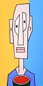 Cartoon Face on Canvas 9
