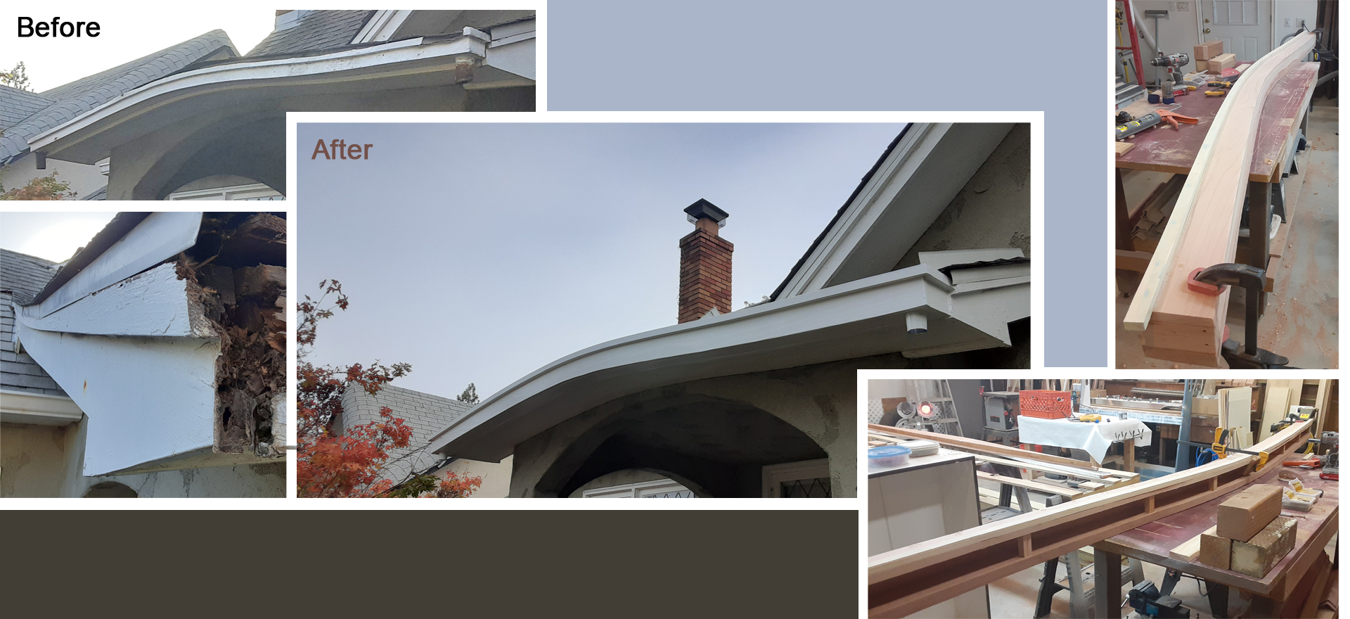 Custom Curved Gutter
