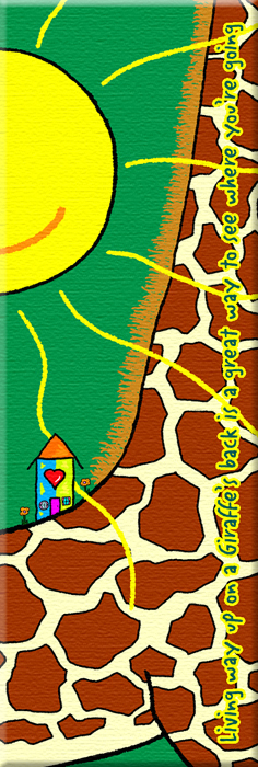 Living on the back of a Giraffe
