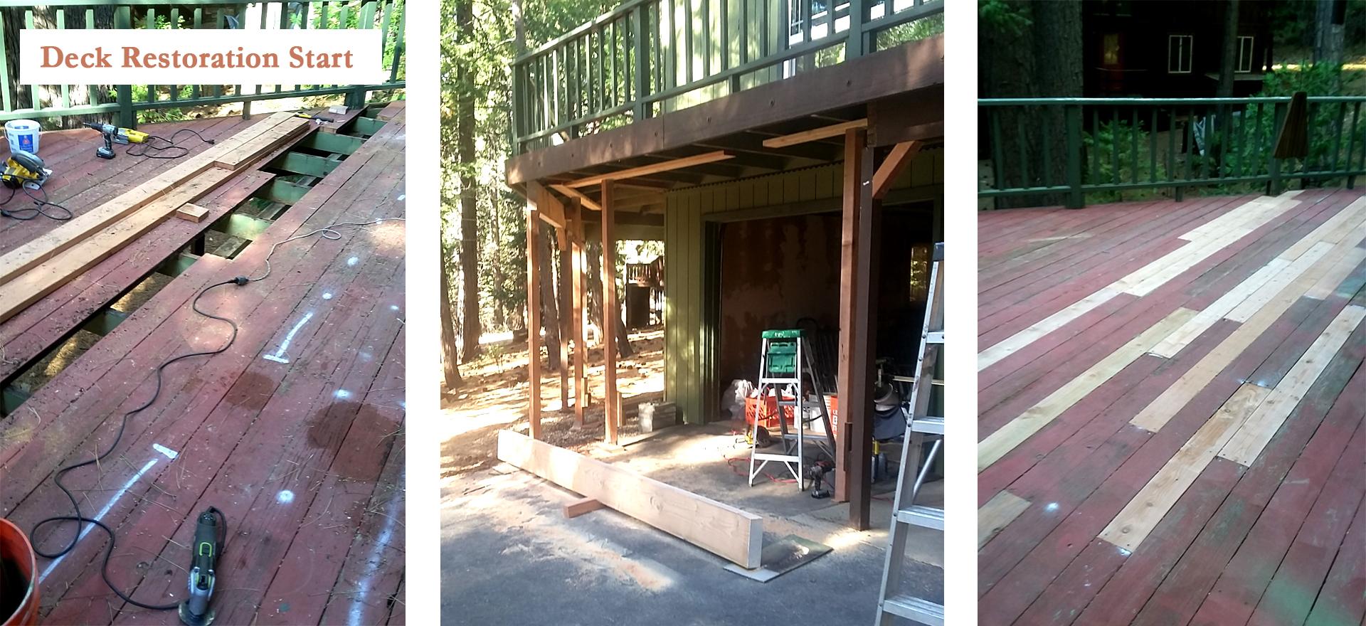 Deck Restoration Start