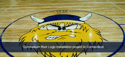 PAINTED GYMNASIUM FLOOR