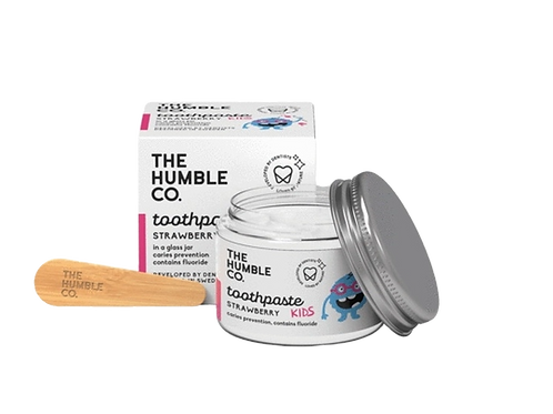 The Humble co. - Kindertandpasta - Aardbei met fluor